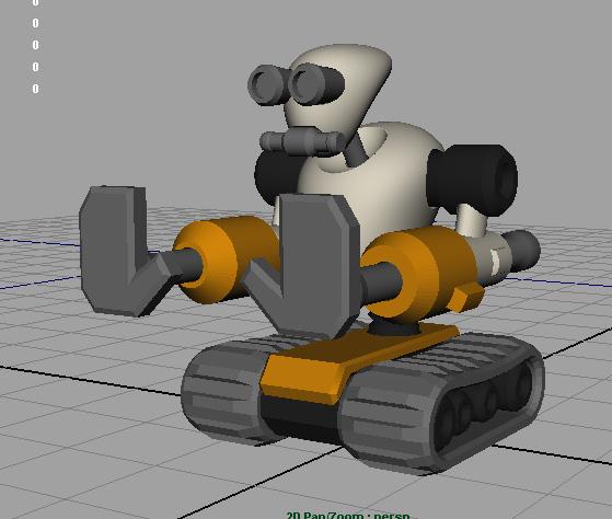 push-bot-3d model